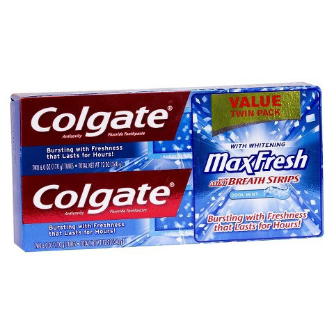 コルゲート Colgate マックス フレッシュミント 歯磨き粉 ツインパック 170g x 2個