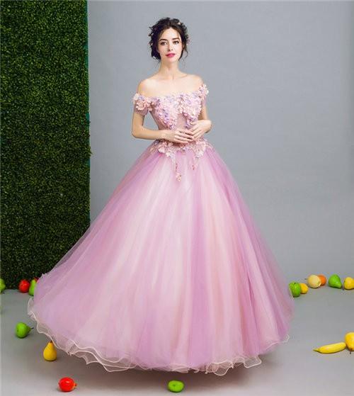 ピンク 花柄 ロングドレス パーティードレス ワンピース カラードレス 二次会 演奏会 披露宴 結婚式 発表会 忘年会 代引可
