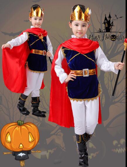 子供用キッズハロウィン衣装 ハロウィーン 国王様王子様 王子コスプレ 剣士変装 幼児園 園児 舞台 コスチューム男の子 女の子