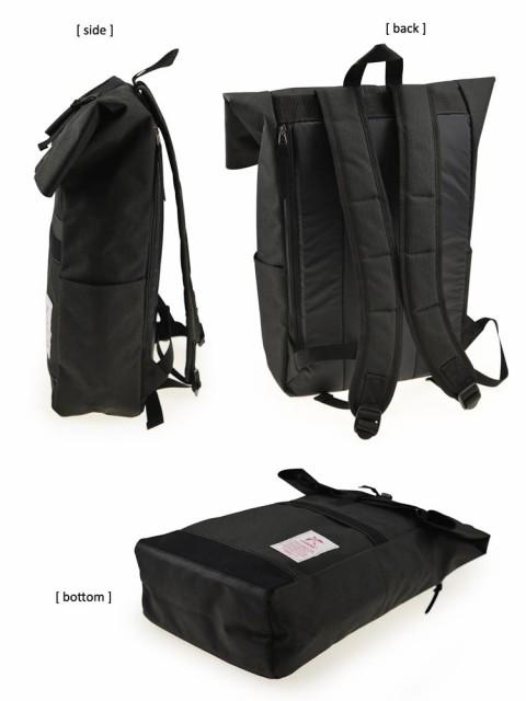 送料無料◆ arCONOMI+ ロールトップ型ディパック ブラック/チャコールグレー/ネイビーブルー/バーガンディ 【ファッション】 11-5019-10