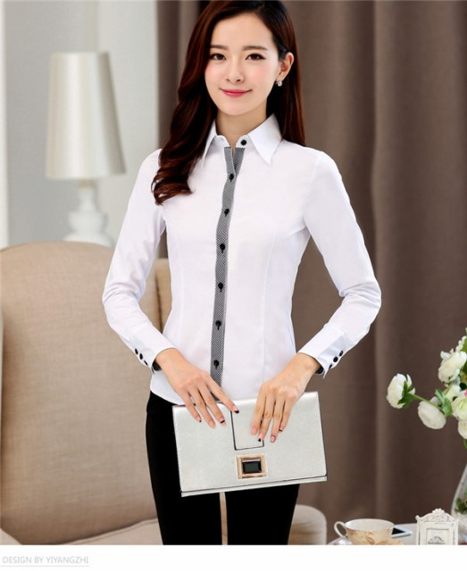 Yシャツ シャツブラウス ビジネス スーツ インナー|事務服 大きいサイズ オフィス フォーマル スーツインナー YO037