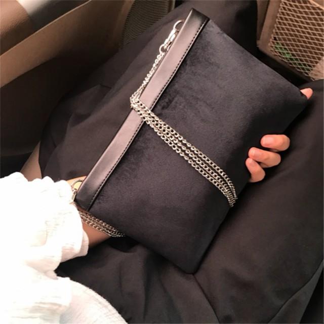 レディース ハンドバッグ ショルダーバッグ ベロア 封筒タイプ 書類バッグ A-b623
