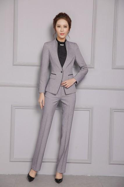 2点セット パンツスーツ スカートスーツ 長袖 通勤 オフィス 入学式 OL 大きいサイズ トップス 制服 事務服 フォーマル ビジネス
