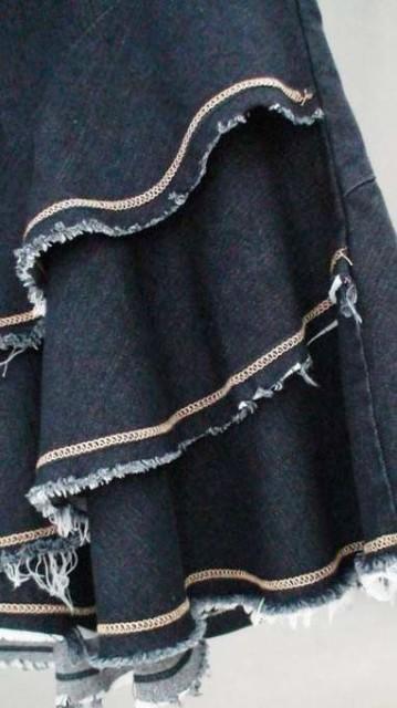 レディースクラシックスカート三段フレア人魚デニムマーメイドスカート ロング丈 美脚タイト ジーンズ シルエット ウォッシュブルー