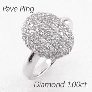 人気が高い パヴェ ダイヤリング オーバル ラウンド ゴージャス ゴージャス 1.00ct ダイヤモンド リング ダイヤリング 指輪 指輪 プラチナ900 pt900, kirei 美活専科 SPECIALTY:41cf6977 --- personnel.pfoten-und-hufe.de