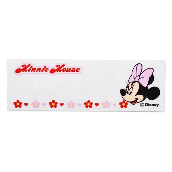 【メール便可】正規品 ワッペン キャラクター ネームラベル 刺繍ワッペン アイロン接着4枚セット ミニー ディズニー Disney