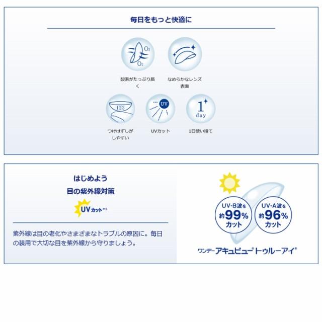 ◆◆【送料無料】 ワンデーアキュビュートゥルーアイ 90枚パック 2箱セット 【クリアコンタクト】