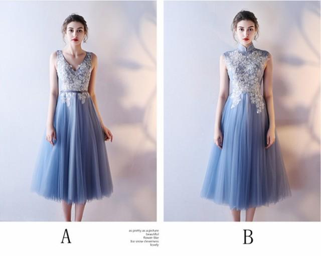 セクシーパーティードレス ドレス 大きいサイズ ロングドレス 二次会ドレス ウェディングドレス 結婚式 ドレス ミモレ丈 お呼ばれの通販はWowma!