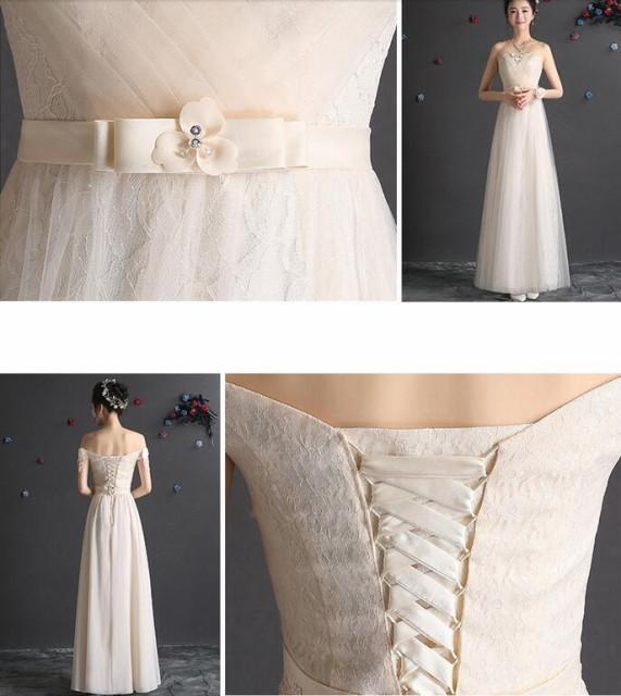 花嫁♪ ウェディングドレス ミニ 二次会 ロングドレス パーティードレス 結婚式 披露宴 ワンピース 素敵 ♪