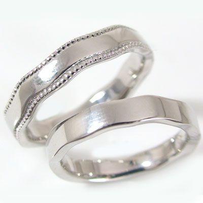 誕生日プレゼント ホワイトゴールド ペアリング 結婚指輪 マリッジリング ペア 2本セット K10wg 指輪, アラカワマチ 3a5e2f51