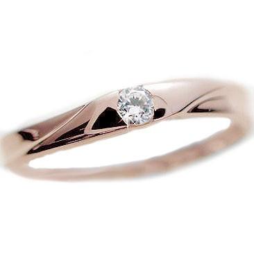 【超歓迎】 ピンクゴールド ピンキーリング ダイヤモンド 0.07ct 指輪 ダイヤ K18PG K18-指輪・リング