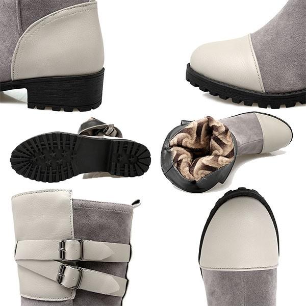 ブーツ 厚底 厚底 ブーツ 小さいサイズ ヒール 大きいサイズ チャンキーヒール 大きいサイズ 靴 レディース 26cm ブーツ ミドルブーツ