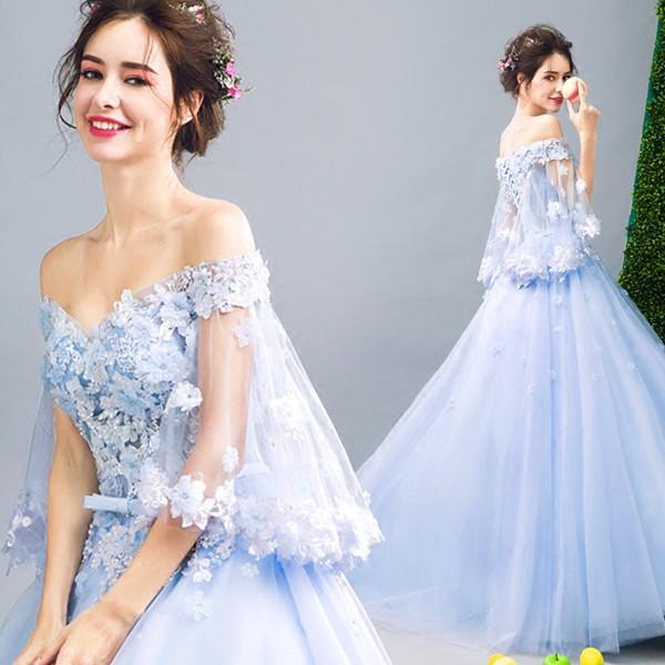 人気ウエディングドレス新品激安 結婚式ドレス 花嫁ウェディングドレス プリンセスドレス エンイブニングドレスの通販はWowma!(ワウマ) ,  サンフラワー商店 商品