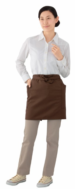 ショートエプロン 《プロ仕様 , 着丈42cm, 全6色》 eXwhite(エクスホワイト) GA5542 業務用 作業用 サロン 飲食店 カフェ