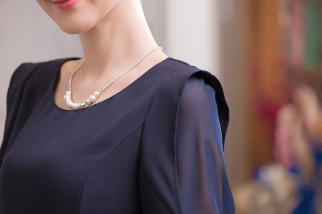結婚式パーティードレス袖ありワンピース上品シンプルミニドレスフォーマル二次会婚活大きいサイズ有[S/M/L/2L/3L][ピンク/紺]