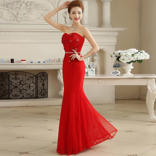 新品 高品質 素敵 ウェディングドレス パーティードレス 花嫁ドレス ロングドレス 結婚式 着痩せ 披露宴 演奏会 マーメイドライン