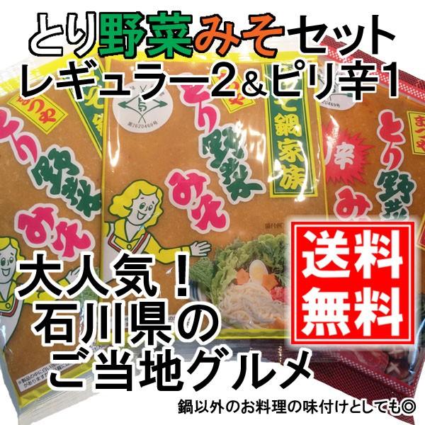 【送料無料】 まつや とり野菜みそ200g  レギュラー2袋&ピリ辛1袋 セット メール便