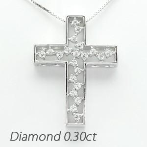 おすすめ クロス 十字架 アンティーク 透かし ダイヤモンド ネックレス ペンダント 18金 K18 ホワイトゴールド 0.30ct, 東京竹葉亭 962a9d1e
