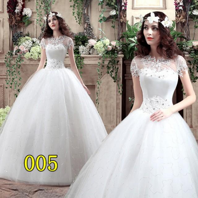 527cd39041e41 花嫁 ウェディングドレス プリンセスライン ブライダルドレス 花嫁Aライン 結婚式 二次会 エンパイア ボレロ パーティー