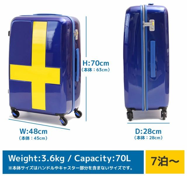トリオ イノベーター スーツケース inv63T サイズ画像