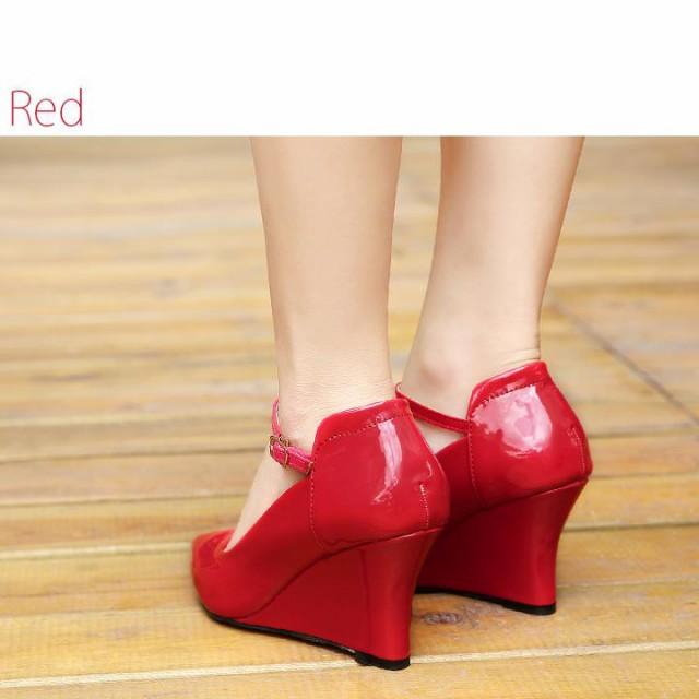 パーティー パンプス 結婚式 ローヒール レディース 靴 キャバ ヒール ハイヒール 赤 黒 ストラップ フォーマル ブラック hs3511 sh pmps