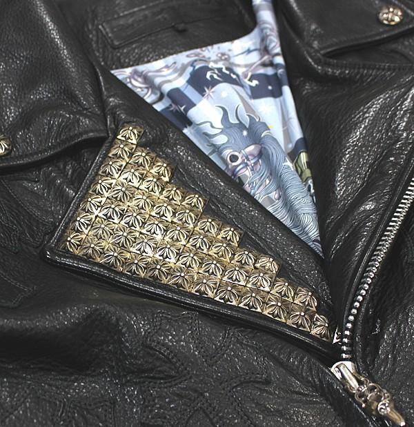 銀座 クロムハーツ JJ DEAN カスタム ライダース エルメス裏地 ゼロピラミッド メンズ S VJ セラフェット ジャケット