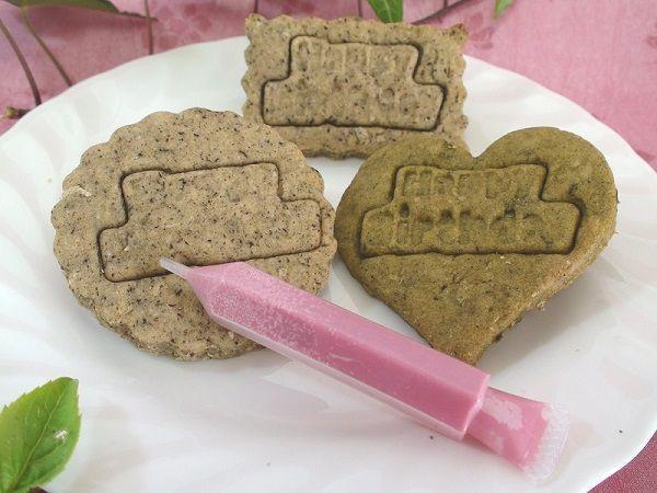 手作りケーキ用デコレーションキット  【クッキーのメッセージプレート・チョコペン・ローソク(5本)がセット】