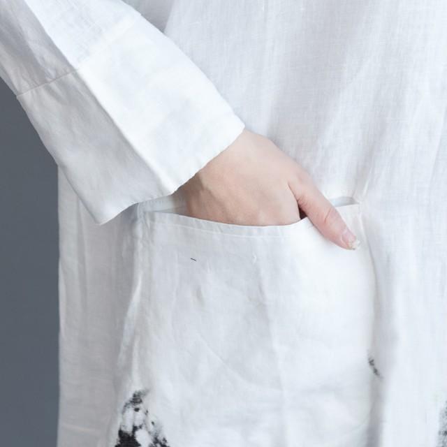 花柄ワンピース綿麻長袖大人気★ゆったりロングシャツ民族風謝恩会★超人気商品