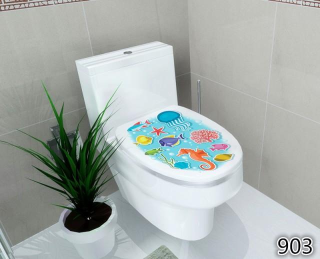 トイレ 便座カバー用 ステッカー 貼って剥がせる 上部 はがせる 洋式 おしゃれ インテリアシール 吸着シート【A994】【メール便不可】