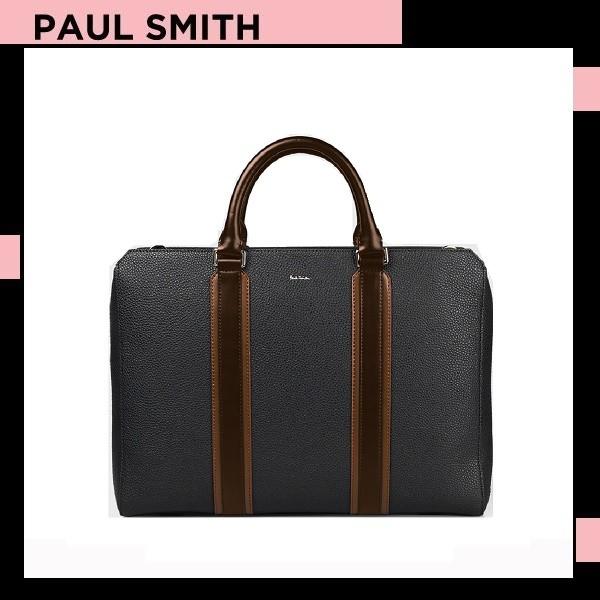 品質検査済 ポールスミス Paul Smith メンズ マルチ カラーブロック 2WAY ブリーフケース ブラック, 熱塩加納村 cabfa50e