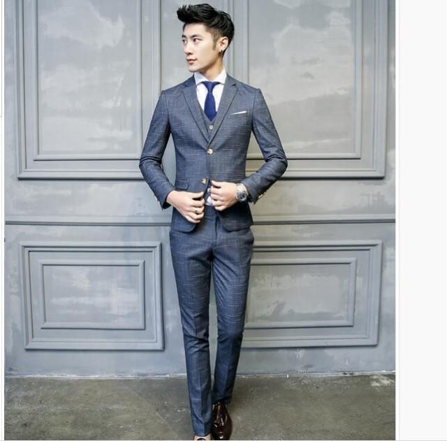 5b43100f1fbc4 期限セール メンズスーツ+パンツ+ベスト ビジネスドレス 上下セット 礼服 ...