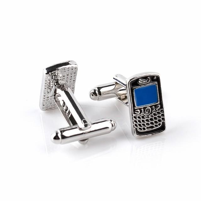 送料無料 カフス ボタン 携帯電話 ガラケー カフリンクス