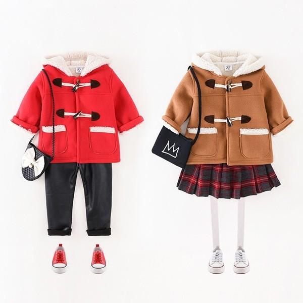 f6695fe222453 女の子男の子子供用ファッション裏起毛 ダッフルコートキッズ ジュニア 中綿ダウンジャケット 発表式