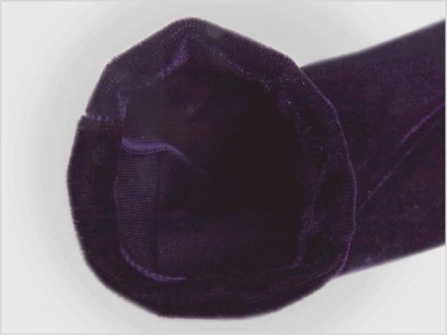 着物・振袖成人式&袴に ベロアストレッチ足袋濃紫(フリー)