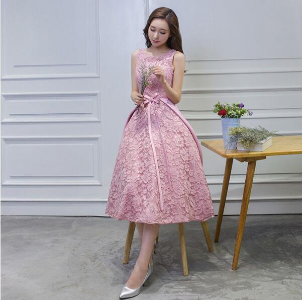ピンクドレス ミモレ丈 パーティー ワンピース 結婚式 フォーマル お呼ばれ 2次会 舞踏会 演奏会 披露宴