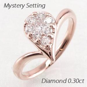 正規品! ドロップ 露 つゆ 雫 しずくペアシェイプ ミステリー ダイヤモンド リング ダイヤリング 指輪 18金 K18 ゴールド, こどもふくセレクトショップavion 629a0a02