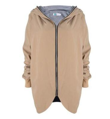 レディース長袖アウター 薄手春物 ジップアップ大きいサイズジャケット 通勤 パーカー フード スプリングコート ブルゾン ストリート
