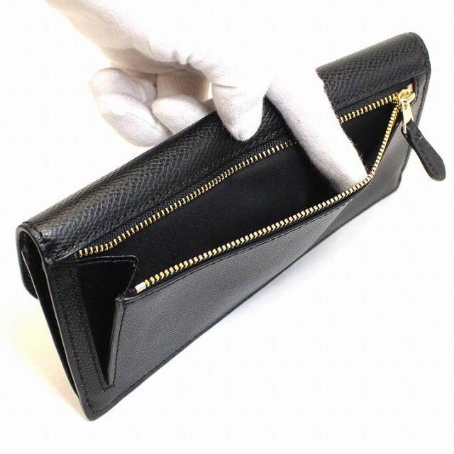 [あす着]コーチ/COACH 財布 長財布 クロスグレインレザー ソフト ウォレット ブラック アウトレット f54008imblk