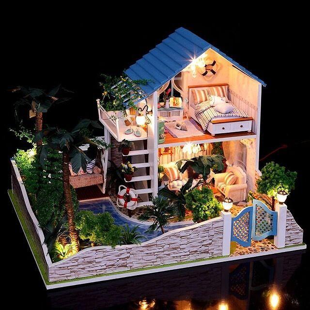 天空の城 ドールハウス DIY 手作りキット セット ミニチュア 組立式