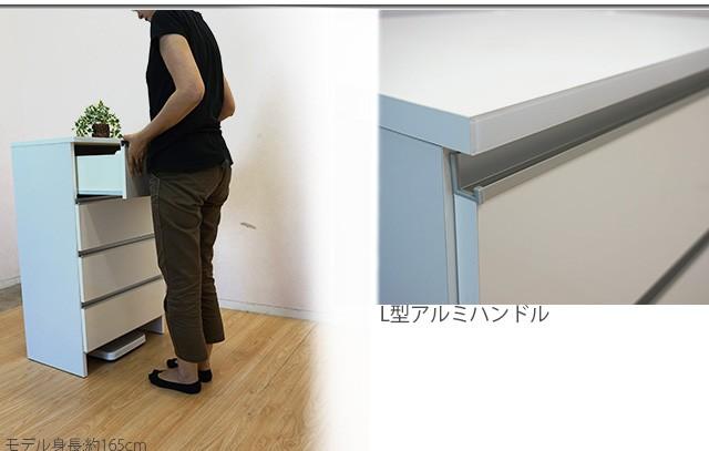 【送料無料】30ランドリー収納ロータイプ ホワイト 日本製 鏡面仕様 収納棚 ランドリーBOX 木製 サニタリー★do23g