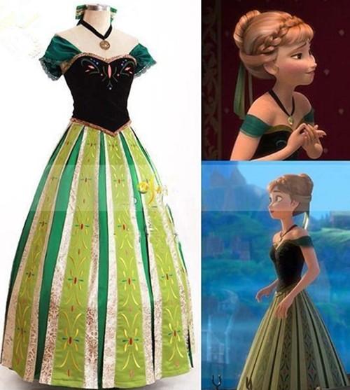 gargamel アナと雪の女王 アナ ドレス コスプレ衣装mzx137,04 au Wowma!(ワウマ)