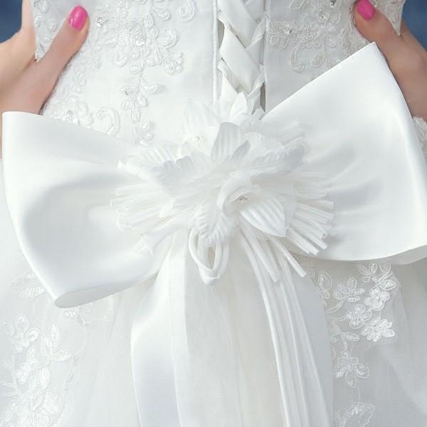 人気 ウエディングドレス 安い 二次会 ウェディングドレス 結婚式 プリンセスライン エンパイア 花嫁 プリンセス