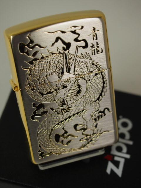 ジッポーZippo  ドラゴン 細密彫(竜 龍)シルバーゴールド 金銀 SSG-1