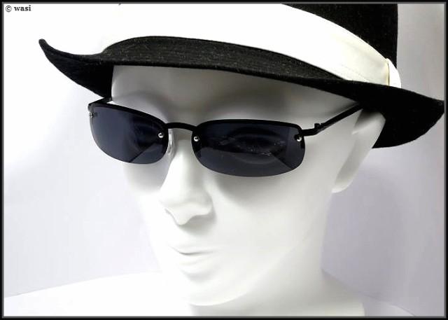 [ZIG's]◆夏をキメるCOOL,BLACK-METALizm/ZIG'sネーム入り/ALL-BLACK/ハーフリム/UVカット(99%以上)/特製クロス・ケース付/glz13