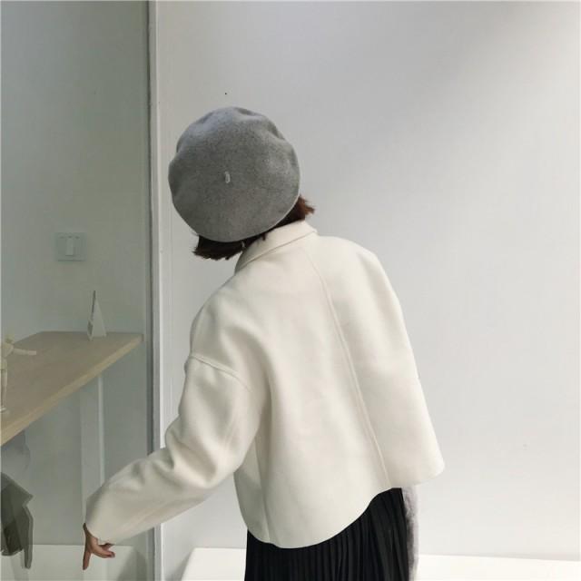 Store Babubabu レディース ベレー帽 ニット帽 フェミニン スタイル フェルト ニット キャップ 帽子 4色