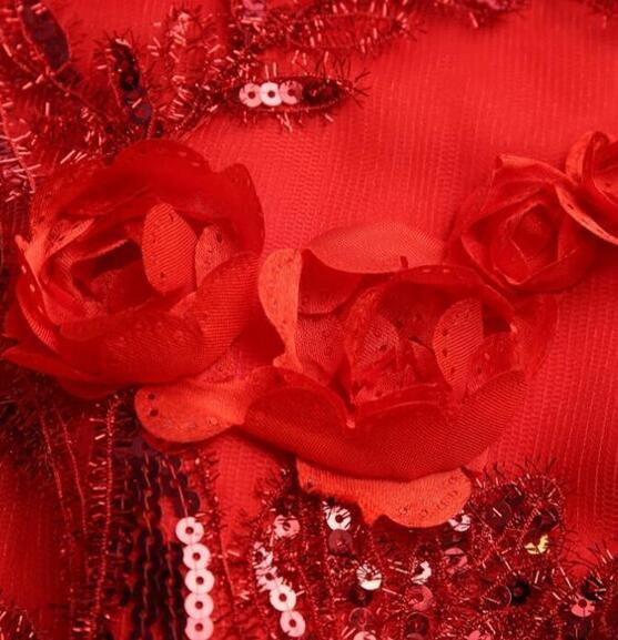 チャイナドレス パーティードレス 二次会 結婚式 披露宴  司会者 舞台衣装 花嫁 写真撮 影 マーメイドライン レッド ロング