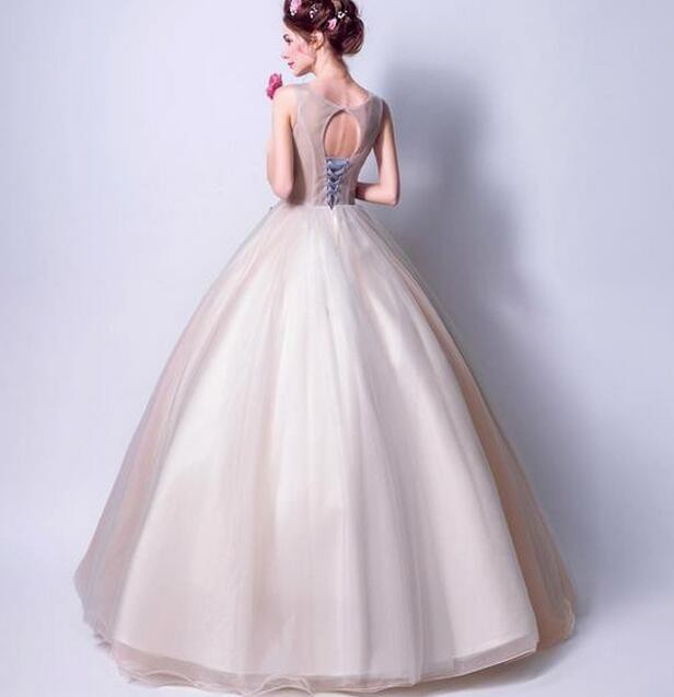 ウェディングドレス パーティードレス 二次会 結婚式 披露宴 司会者 舞台衣装 花嫁 ロングドレス ノースリーブ