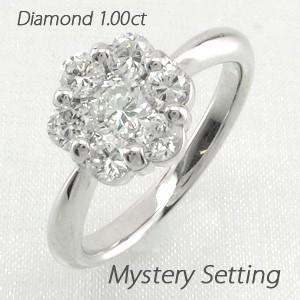 かわいい! フラワー ミステリー 花 ゴージャス ダイヤモンド 1.00ct リング ゴージャス ダイヤリング 指輪 プラチナ900 ダイヤモンド pt900 1.00ct, the Gift by fp:b45558e7 --- mgv-rietberg.de