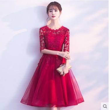 9c7486ed0136f ウェディングドレス 花嫁 結婚式ドレス パーティー二次会 プリンセス 流行りの花レース ミモレ丈ドレス