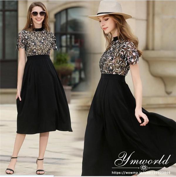 3cf32452f54ec ロングドレス 結婚式 パーティードレス レース刺繍 ドレス ワンピース 黒 大きいサイズ パーティー 二次会 お呼ばれ